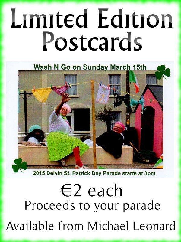 Delvin St Patrick's Parade Postcard