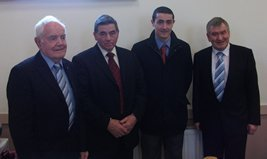 Councillors Dan McCarthy, Paddy Hill and John Shaw with Meath West TD Johnny Brady at Re-Opening of St Patrick's Hall, Delvin March 9th 2010
