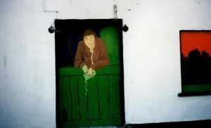 Mural Reputedly Showing Depiction of Ghost