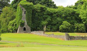 Remains of original Clonyn Castle