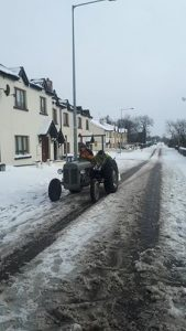 Liam Walsh was out rescuing cars that got stuck - photo from From Seán Jones