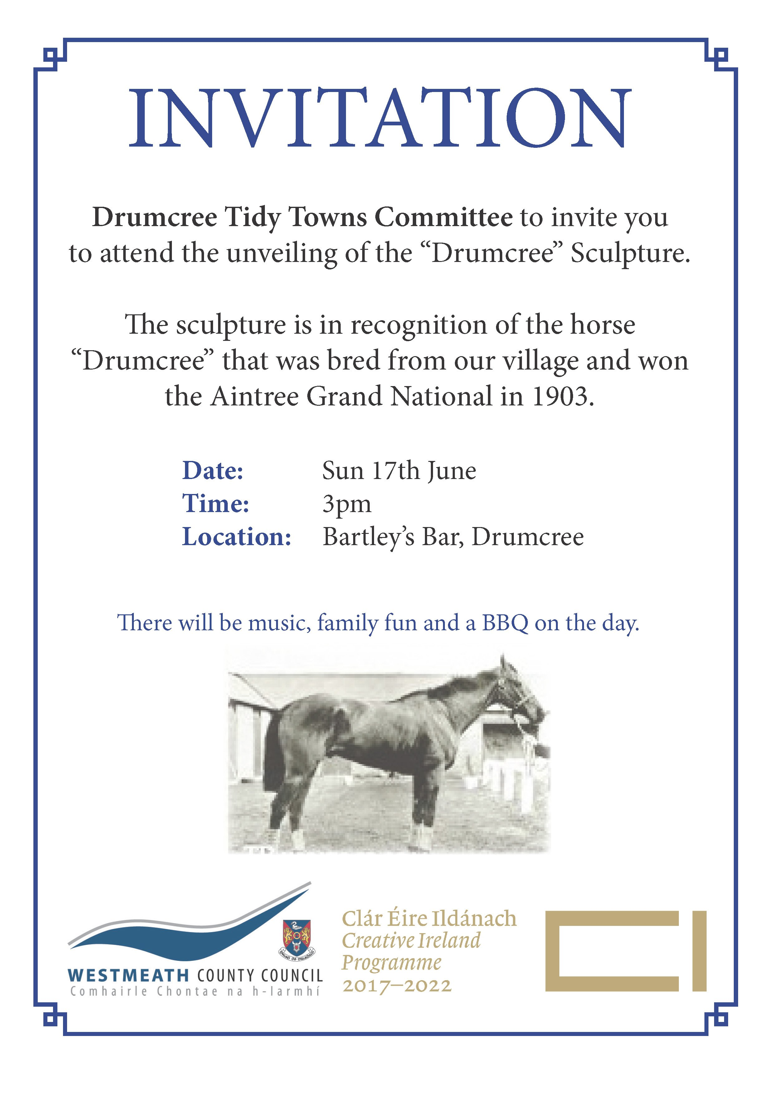 "Unveiling of the ""Drumcree"" Sculpture"
