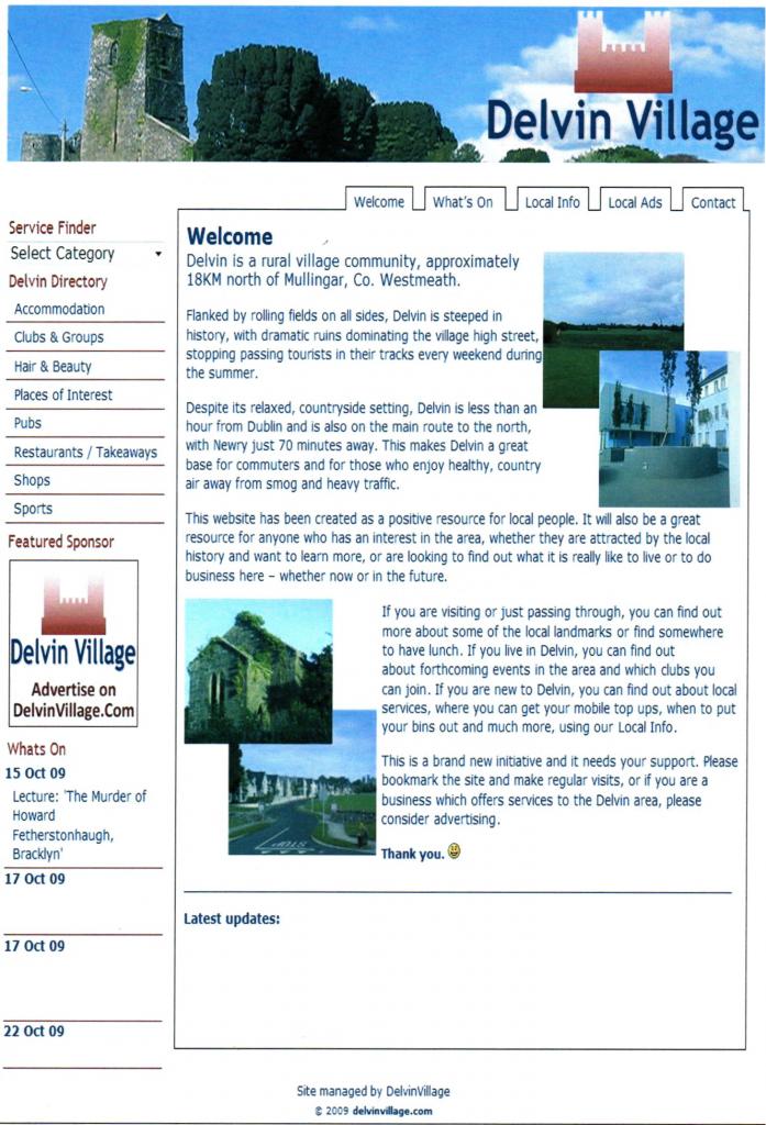 The Original Delvin Village Website