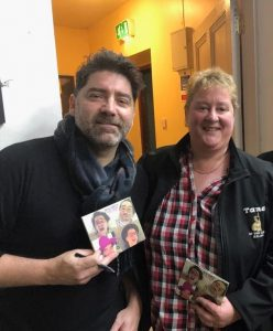 Brian Kennedy pictured with Elaine Revington